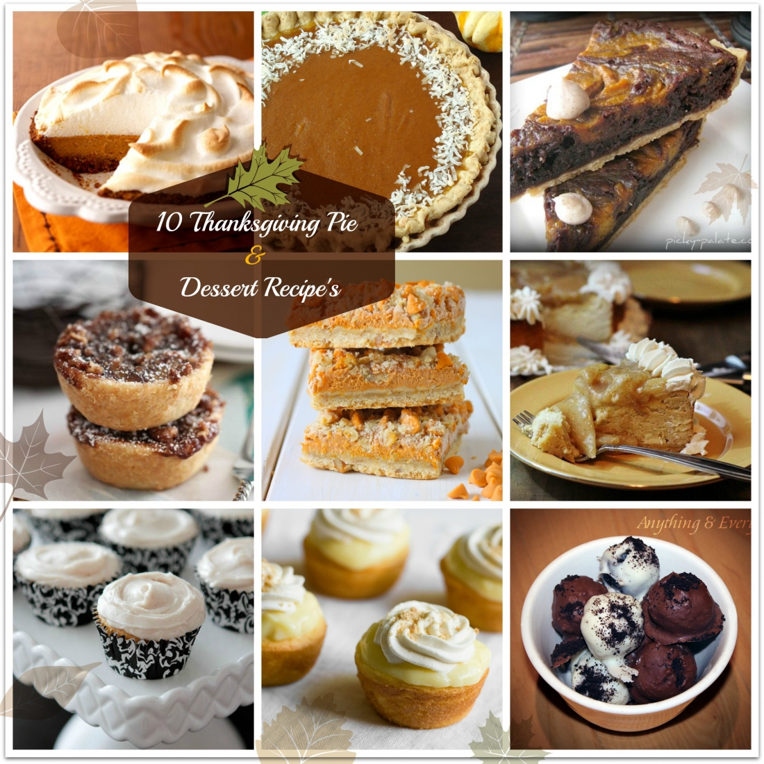 10 Thanksgiving Pie & Dessert Recipes