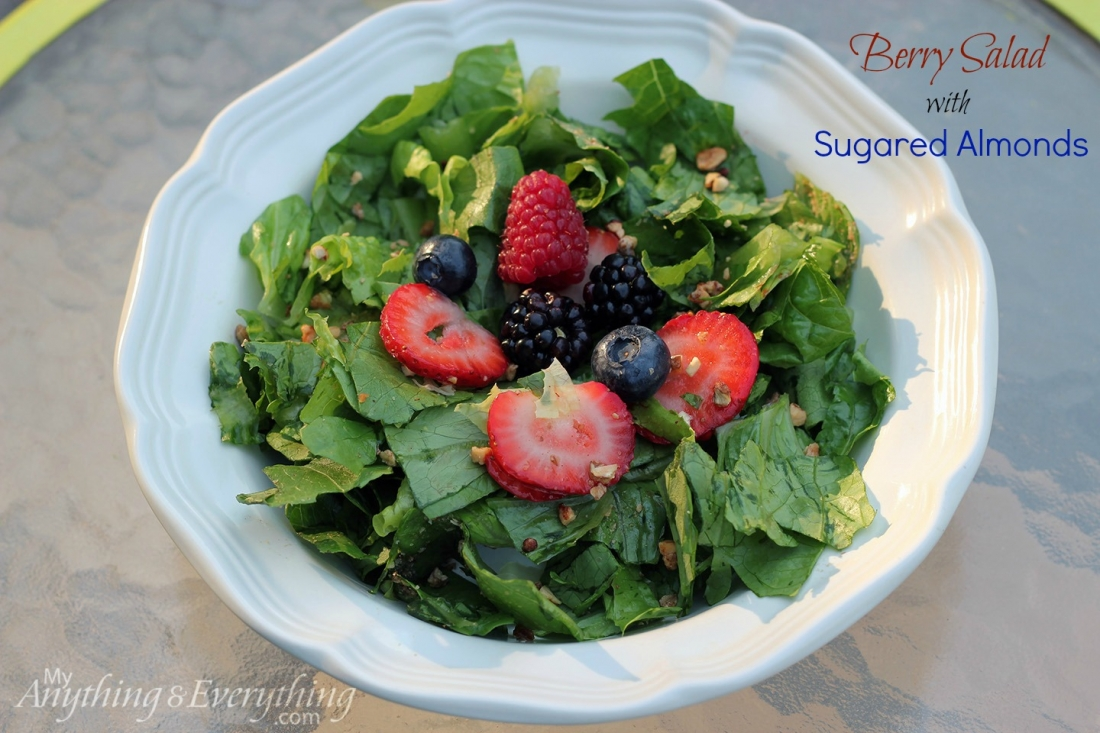 Berry Salad with Sugared Almonds