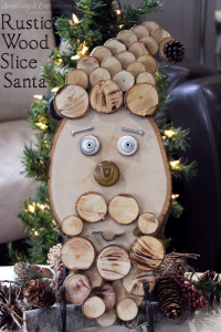 Rustic Wood Slice Santa Final