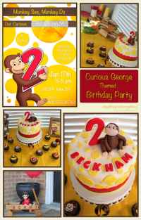 Curious George Themed Birthday Party