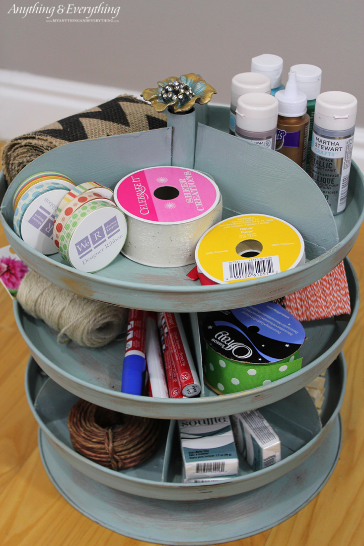 Painted Rotating Craft Organizer