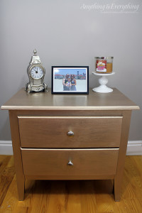 Furniture makeover using Modern Masters Paint