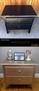 Nightstand makeover before and after