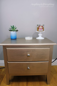 Nightstand makeover using Modern Masters Paint 3