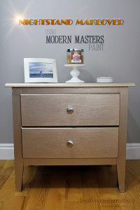 Nightstand makeover using Modern Masters Paint