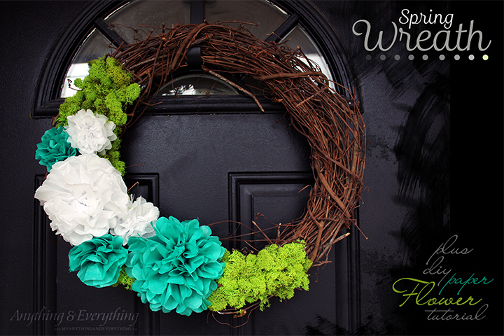 Super Easy Spring Wreath Plus Paper Flower Tutorial