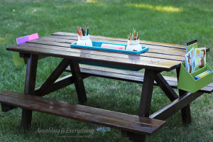 kids activity picnic table