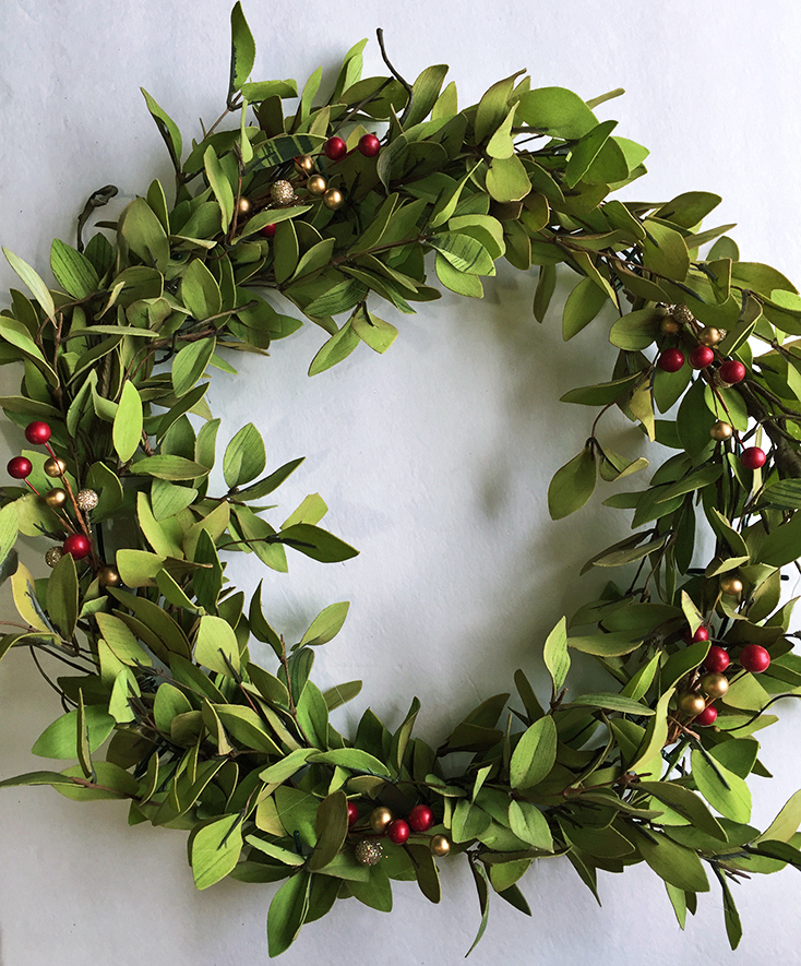 Tea Leaves and Berry Wreath 1