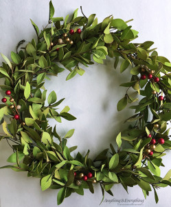Tea Leaves and Berry Wreath
