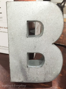 Metal Letter Before