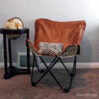 How to make a Leather Butterfly chair