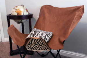Leather Butterfly chair diy