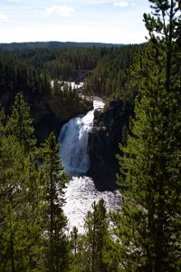 View of a waterfall at Grand Canyon of the Yellowstone