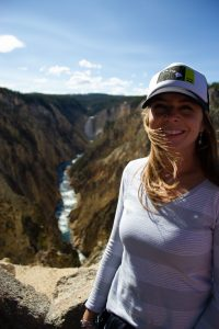 viewing point of lower falls at Grand Canyon of the Yellowstone