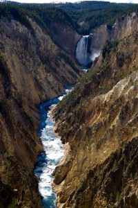 Grand Canyon of the Yellowstone waterfall and river