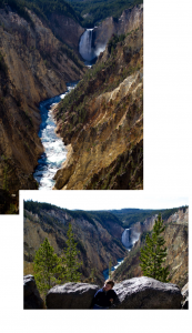 Viewing Points at the Grand Canyon of the Yellowstone